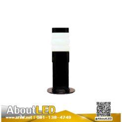 โคมไฟสนามหญ้า โป๊ะแก้วหัวน็อตสีนม-B