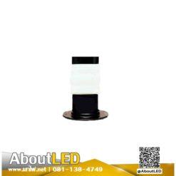 โคมไฟสนามหญ้า โป๊ะแก้วหัวน็อตสีนมA