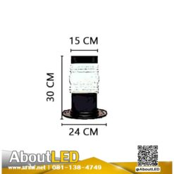 โคมไฟสนามหญ้า โป๊ะแก้วหัวน็อตสีนมADM